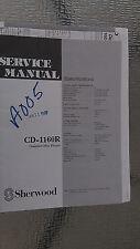 sherwood cd-1160r service manual repair book schematic cd player compact disc