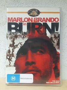 Burn DVD Marlon Brando Movie - ALL REGIONS