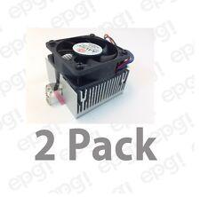 COOLING FAN w/HEAT SINK AAVID 50mmX 52mmX 43mm TX3 Connector 2pc #Z12VCMTLRG-2PK