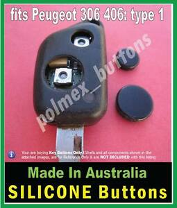 fits Peugeot 306 307 406 remote key - 2 Buttons (sq switches with worn tips)