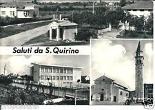 pn 25 1969 - San Quirino (Pordenone) -Saluti da... Viaggiata Ed.B.L.R.