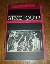 SING OUT mag RARE Dec-Jan 63-64 BOB DYLAN w Don't Think Twice music/lyrics VG++