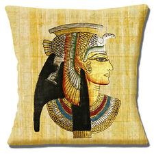 """FARAONE Egiziano Copricuscino 16""""x16"""" 40cm PAPIRO PERGAMENA sfondo Multi"""