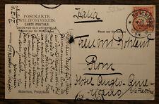 1907 Scheffer Thassilo von Eigenhändige Postkarte mit Unterschrift