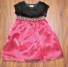 Girls 24 months dress Christmas pictures Holiday red Black Velvet top
