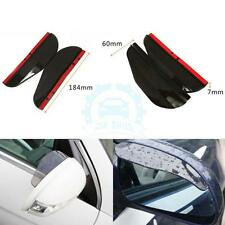 2PCS Black Universal Car Rear View Side Mirror Rain Board Sun Visor Shade Shield