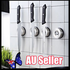 Powerful Suction Cup Magnetic Knife Holder Stainless Steel no Screws no Holes BK