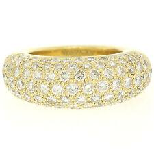 18ct Oro Amarillo 4.46ctw F vs Puesto Pavé Redondo Brillante Corte Diamante