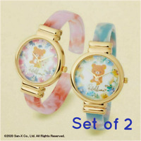 Rilakkuma & Korilakkuma Bangle Wrist Watch Prize Item of Japan Set of 2