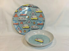 Camping Rv Trailer Camper dish Dishes Melamine Set New Plate Bowl