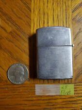 WORKING Vintage Flip Top Penguin Lighter No 111957 Plain Chrome Brushed Finish