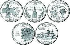 2000 US State Quarters Five Uncirculated Straight from mint US Mint