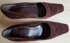 M&S Marks and Spencer Ladies Brown Suede High Heeled Shoes Size 5