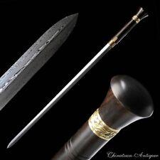 Knight Single-hand Self-defense Battle Sword Refinings Pattern Steel Sharp #5295