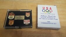 Anheuser Busch 1988 Olympic Commemorative Pin Set