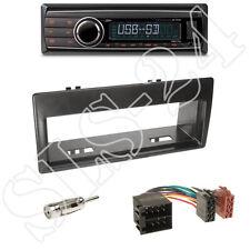 Caliber RMD212 Radio + Citroen Xantia(X2) 1-DIN Blende schwarz + ISO-Adapter Set