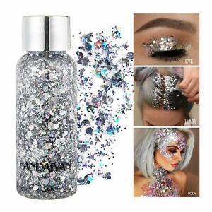 Mermaid Sequins Chunky Glitter Liquid Eyeshadow Body Gel Face Hair Nails Makeup