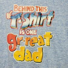 Vintage 70's Ringer T shirt Behind This Shirt is One Gr-Great Dad Xl Made in Usa