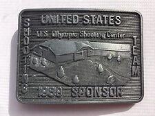 US Olympic Shooting Center 1989 Team Sponsor Belt Buckle Shooting Team