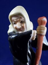 """VINTAGE 1930's WICKED WITCH SORCERESS HAND PAINTED PORCELAIN 3-3/4"""" FIGURINE"""