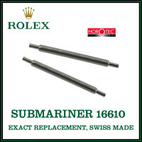 ♛ ROLEX Exact Replacement 20mm Spring Bars For Vintage Rolex Submariner 16610 ♛