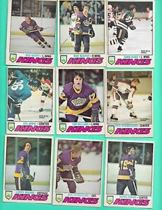 (16) LOS ANGELES KINGS 1977-78 O-PEE-CHEE  FAIR/EX CARD (V1451)