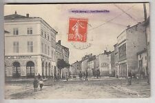 CPA VOID 55 - RUE JEANNE D'ARC CAFE DU COMMERCE PASSANTS VELO CENSURE 1914 ~B64
