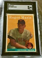 1958 Topps #47 Roger Maris RC New York Yankees - SGC 5 EX SHARP & CENTERED!!