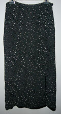 MERONA  LONG BLACK SKIRT W/ GRAY CIRCLE PATTERN, FULLY LINED,  SIZE M