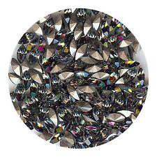 4200 6X3 BD *** 15 strass Swarovski NAVETTE FOND CONIQUE  6X3mm BLACK DIAMOND F