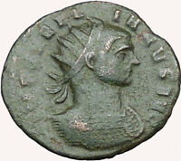 AURELIAN  w globe 272AD  Ancient Roman Coin Soldier w Victory i33984