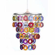 Lamp Shade Colourful Gypsy Pretty AMELIA Retro 3 Tier DIY Light Rings NEW