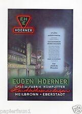 Leuchtreklame Hoerner Heilbronn Eberstadt Reklame 1956 neon sign Werbung ad Neon