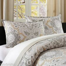 Echo Design Odyssey (Single Bed) Twin Duvet Set Neutral Beige Tan Paisley Damask