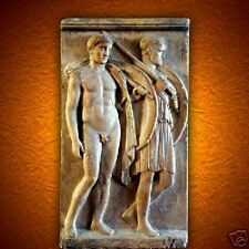 Grave Stele of hoplites Chairedemos and Lyceas stone wall art sculpture tile