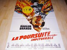 LA POURSUITE IMPITOYABLE !  marlon brando  affiche cinema   :&