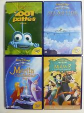 Lot DVD Disney - Mulan 2 / 1001 Pattes /Merlin l'Enchanteur / Atlantide
