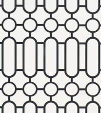 6 rolls of Designers Guild 'Porden' Wallpaper P537/03 (Black/White)