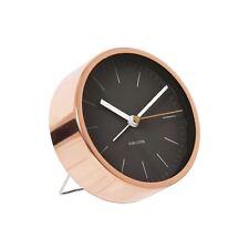 Karlsson minimal Réveil Noir Unique de chevet chambre à coucher moderne Timepiece
