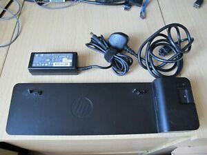 HP 2013 D9Y32AA UltraSlim Docking Station EliteBook Genuine HP 65W Power Supply