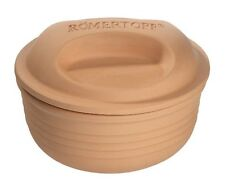 Romertopf by Reston Lloyd Natural Glazed Clay Cooker, Round Casserole, 2-Quart