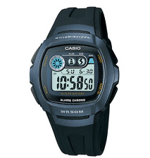 CASIO ILLUMINATOR DIGITAL CHRONO ALARM DUAL TIME LIGHT MEN'S WATCH W-210-1B NEW
