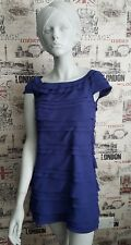 FRENCH CONNECTION FCUK ''PENNY'' BLUE TIERED DRESS SIZE 10 UK PIPPA?CELEBRITY