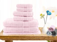 Brand New  Soft Touch 7 Piece 100% Cotton Bath Towel Set - Baby Pink