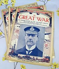 THE GREAT WAR The Standard History of The All -Europe Conflict 1916 MAGAZINE x 3