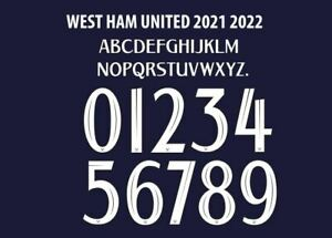 West Ham 2021-2022 Third Cup Football Nameset for shirt Any Name & Number