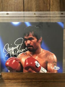 Manny Pacquiao Signed Auto Beckett Certified