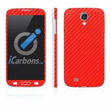 Samsung Galaxy S4 Red Carbon Fibre Skins - Carbon Fiber skin by iCarbons