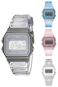 Casio Women's Classic Digital Quartz Transparent Resin Watch F91WS