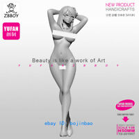 1/35 Scale 50mm YUFAN Sexy Girl Standing Unpainted Resin Figure Model Kits New